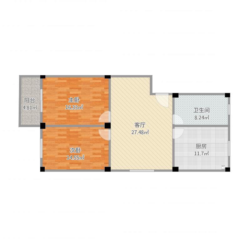 安庆_4812宿舍楼6层东户型图_2016-03-03-1249
