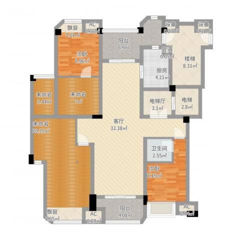 保利紫晶山2室1厅1卫1厨170.00㎡户型图