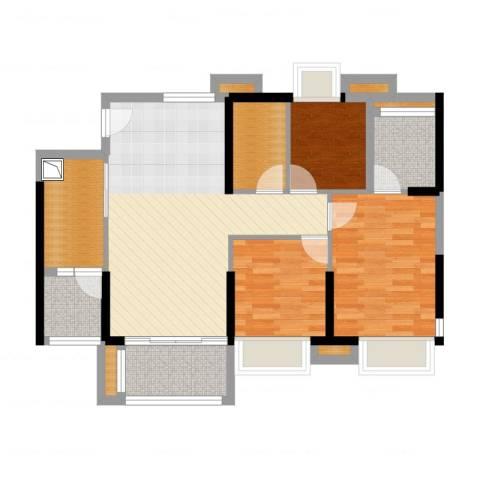 萝岗奥园广场3室2厅5卫2厨89.00㎡户型图
