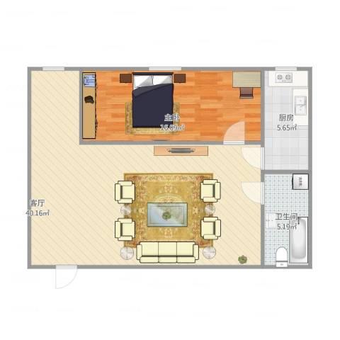 信息工程学院宿舍1室1厅1卫1厨89.00㎡户型图