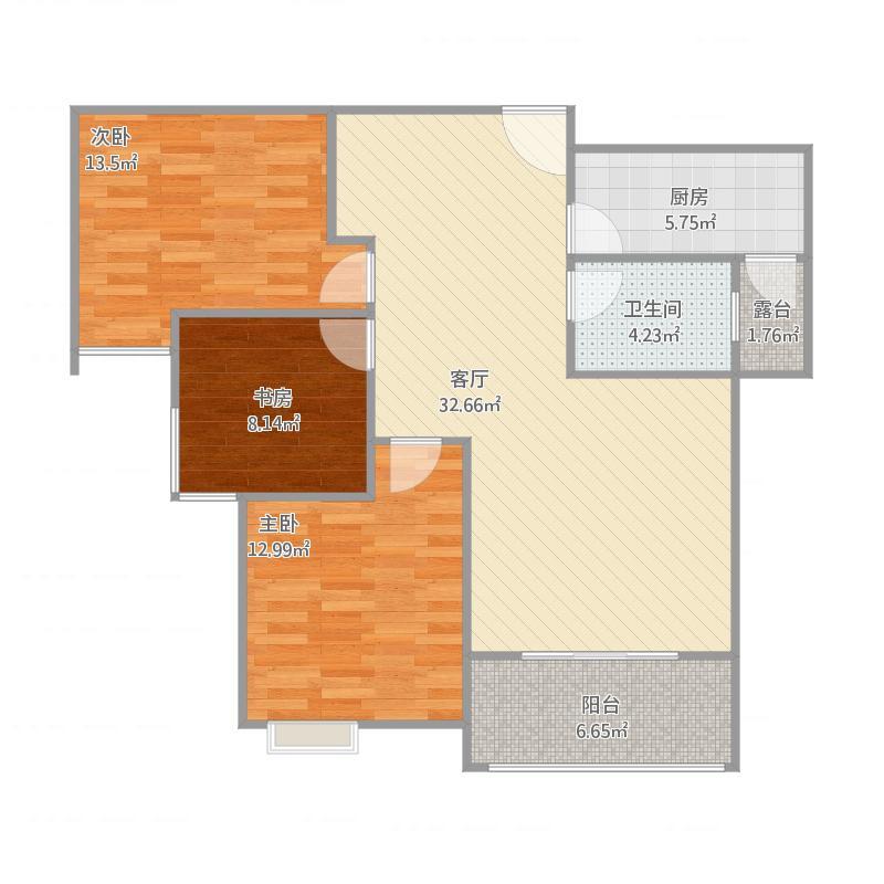 中央首府D6,99平三室两厅两卫