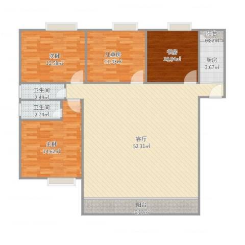康城尚域4室1厅2卫1厨156.00㎡户型图