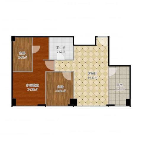 尚峯壹号C2/32室2厅1卫1厨134.00㎡户型图
