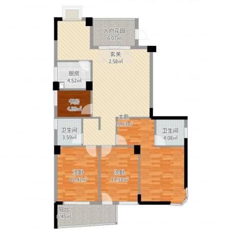 宏源大景城4室2厅2卫1厨150.00㎡户型图