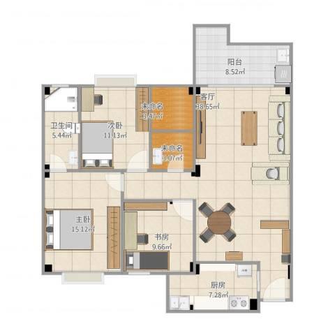 华林前景城3室1厅1卫1厨139.00㎡户型图