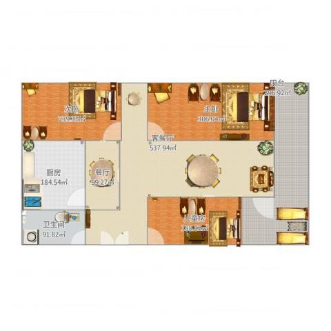 朝晖小区3室3厅1卫1厨2473.00㎡户型图