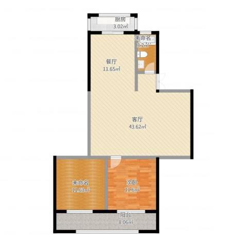 估衣廊1室1厅1卫1厨113.00㎡户型图