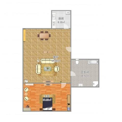 莘南新村1室1厅1卫1厨163.00㎡户型图