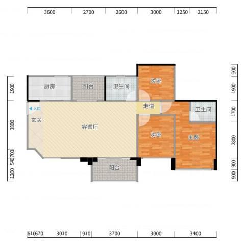 三鄉富和名都-名峰16棟01-04戶型3房2廳2衛