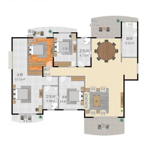 德远未来之城4室1厅2卫1厨209.00㎡户型图