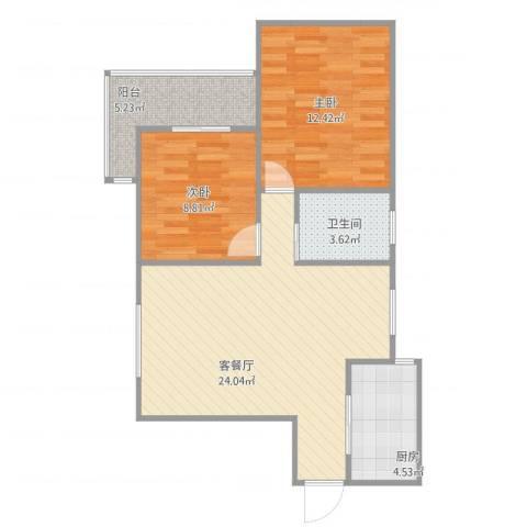 欧典家园2室2厅1卫1厨79.00㎡户型图