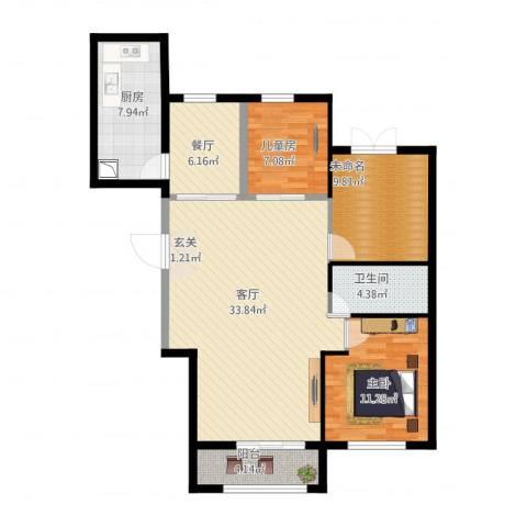 首创・象墅2室2厅2卫1厨120.00㎡户型图
