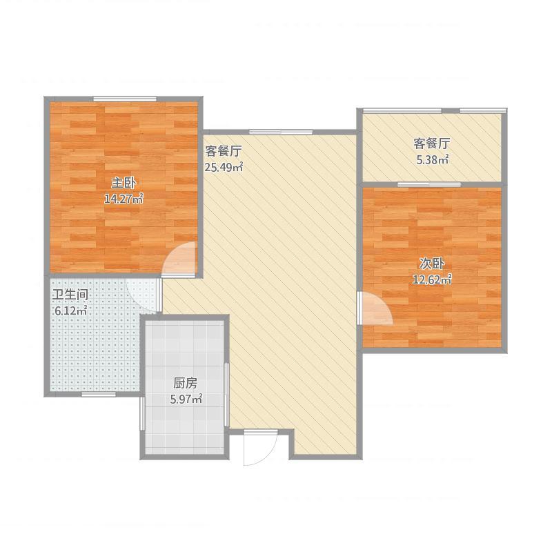 长江国际三期90平两室一厅