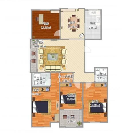 祥生・中央华府瑞和园4室2厅2卫1厨162.00㎡户型图
