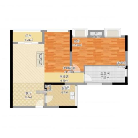 卓越时代广场1室1厅1卫1厨102.00㎡户型图