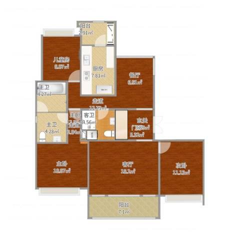 好世凤翔苑3室1厅4卫1厨136.00㎡户型图