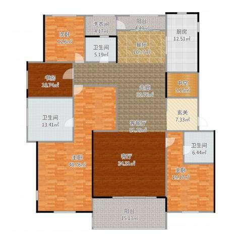 九龙仓国宾1号4室2厅3卫1厨306.00㎡户型图