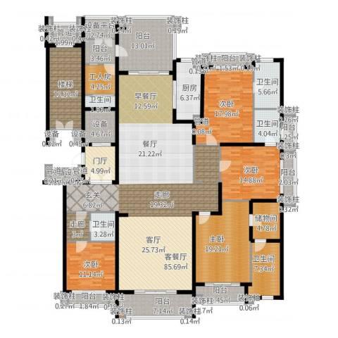 荣禾曲池东岸4室2厅5卫1厨368.00㎡户型图
