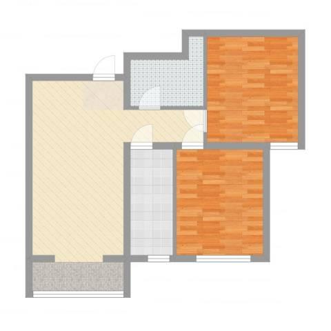 书芳苑2室2厅1卫1厨78.00㎡户型图