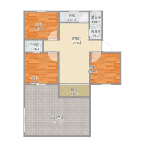 桂花新村3室4厅2卫1厨82.00㎡户型图