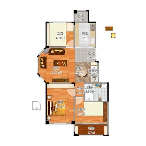 三鼎春天4室2厅1卫1厨88.00㎡户型图