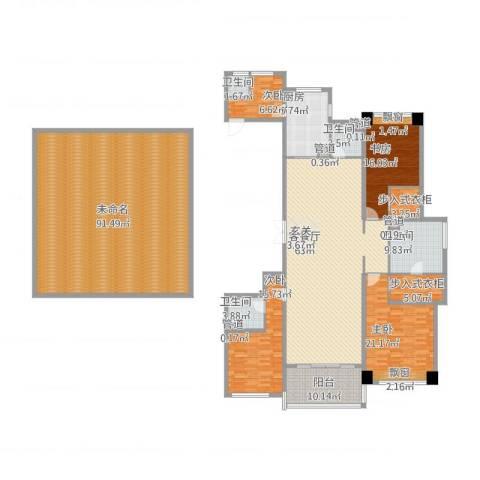 长沙开福万达广场4室2厅4卫1厨360.00㎡户型图