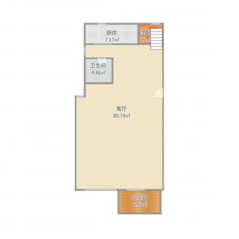 武夷嘉园1室1厅1卫1厨134.00㎡户型图