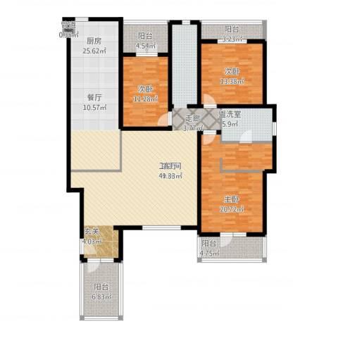 万科惠斯勒小镇3室2厅1卫1厨207.00㎡户型图
