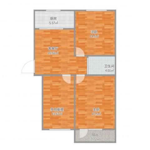 甜水园东里2室2厅1卫1厨102.00㎡户型图