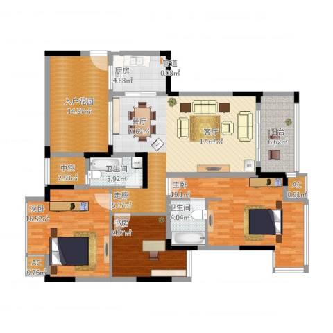 郦城水岸3室3厅5卫1厨163.00㎡户型图
