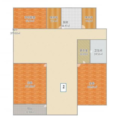 栾城天山水榭花都2室1厅1卫1厨1094.00㎡户型图