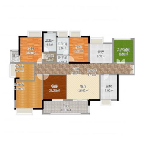 港口国际3室2厅2卫1厨195.00㎡户型图