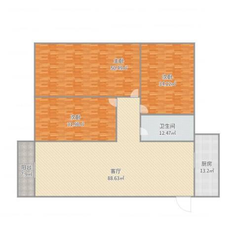 盈翠园B5-6013室1厅1卫1厨311.00㎡户型图