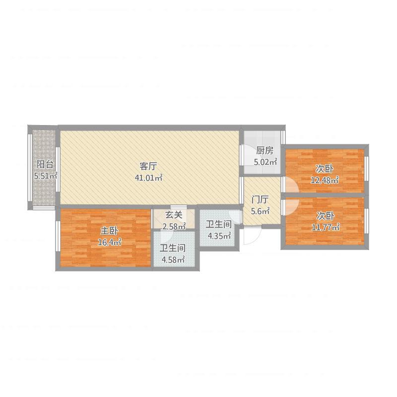 淮海130三室两厅