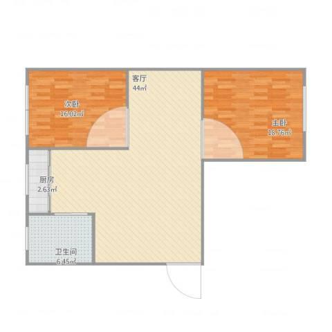 北宁里2室1厅1卫1厨116.00㎡户型图