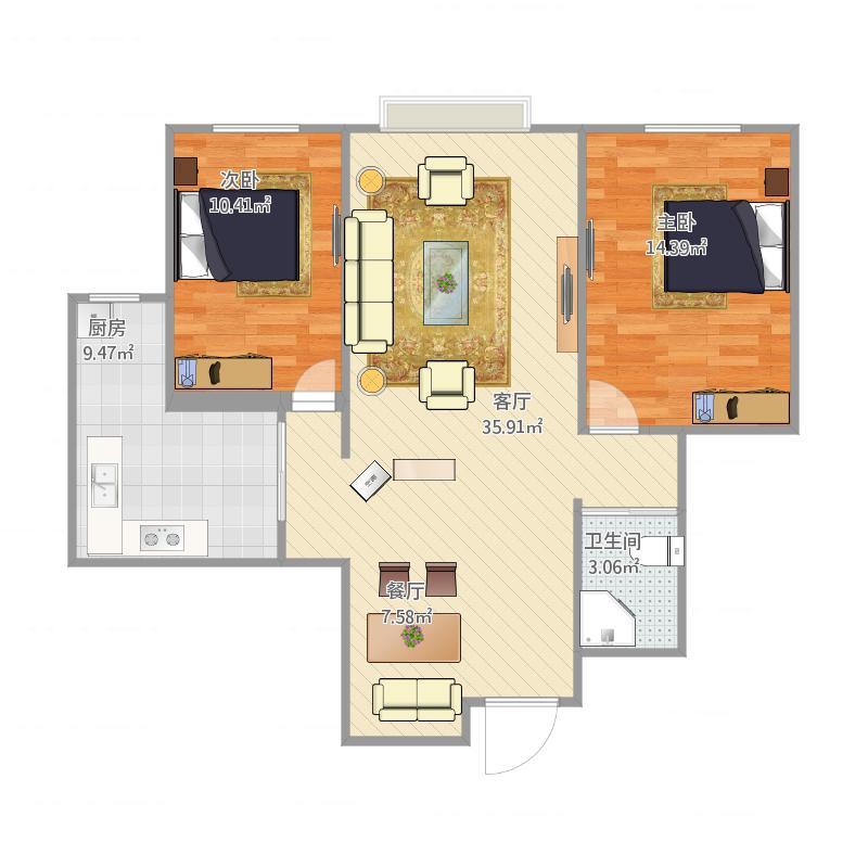 农大十区110两室两厅