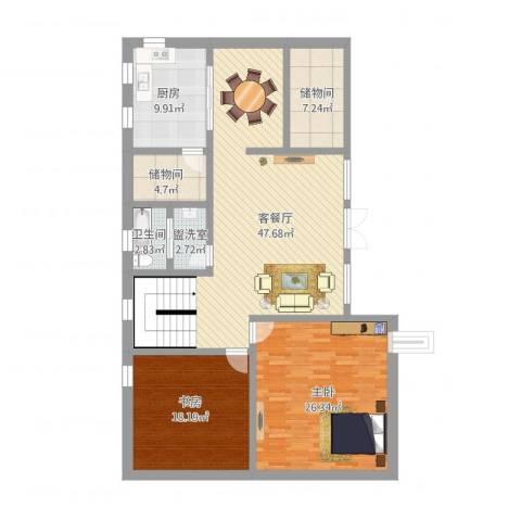 微信中2室4厅1卫1厨172.00㎡户型图
