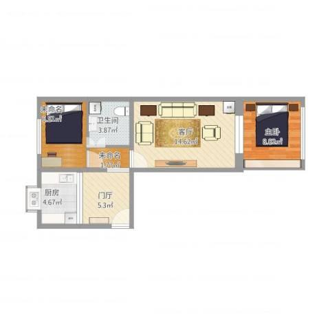 淦江东里1室1厅1卫1厨65.00㎡户型图