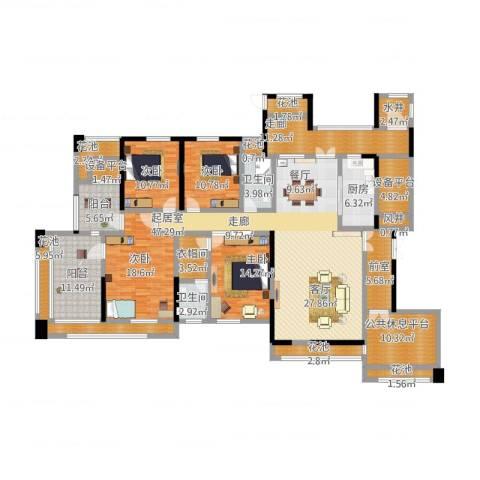 中冶南方韵湖首府5室2厅9卫1厨280.00㎡户型图