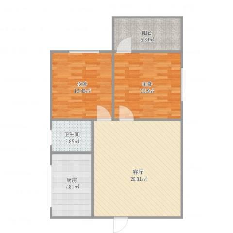 映翠轩1062室1厅1卫1厨95.00㎡户型图