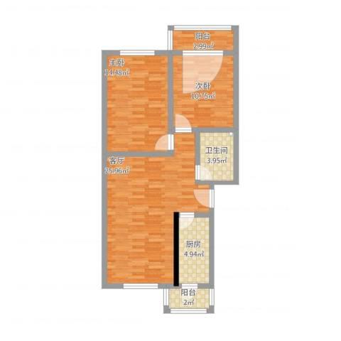 名都新园2室1厅1卫1厨95.00㎡户型图
