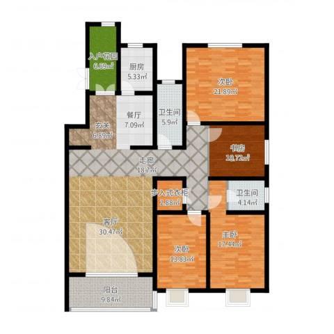 博鑫青年城三期4室2厅2卫1厨229.00㎡户型图