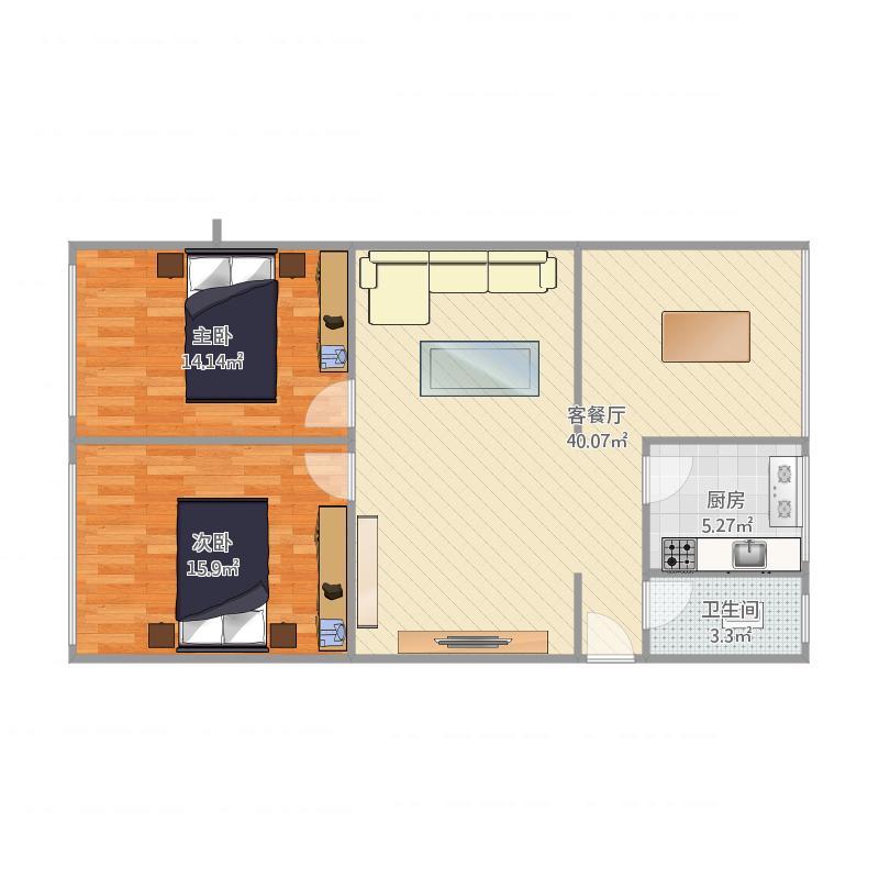 市财政局宿舍2室2厅