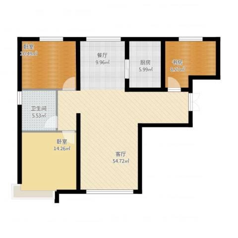 恒盛皇家花园1室1厅1卫1厨120.00㎡户型图