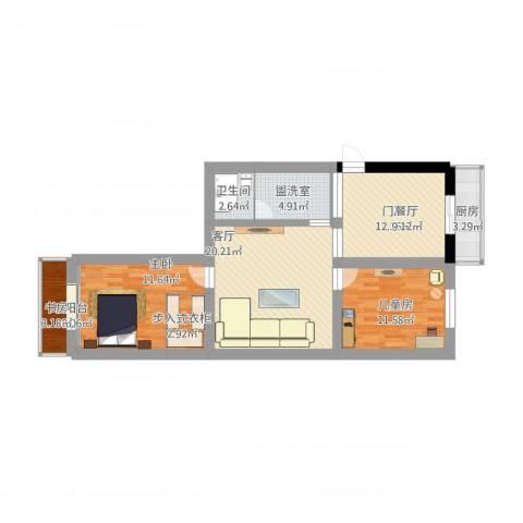 新闻西里3室3厅1卫1厨111.00㎡户型图