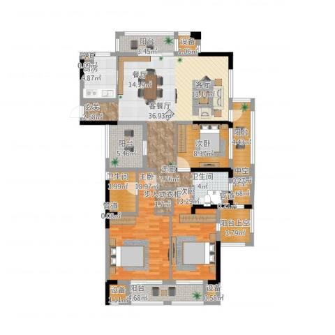 天阳云筑3室2厅2卫1厨172.00㎡户型图