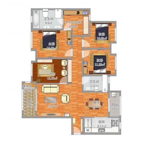 华润中央公园168㎡4室1厅2卫1厨186.00㎡户型图