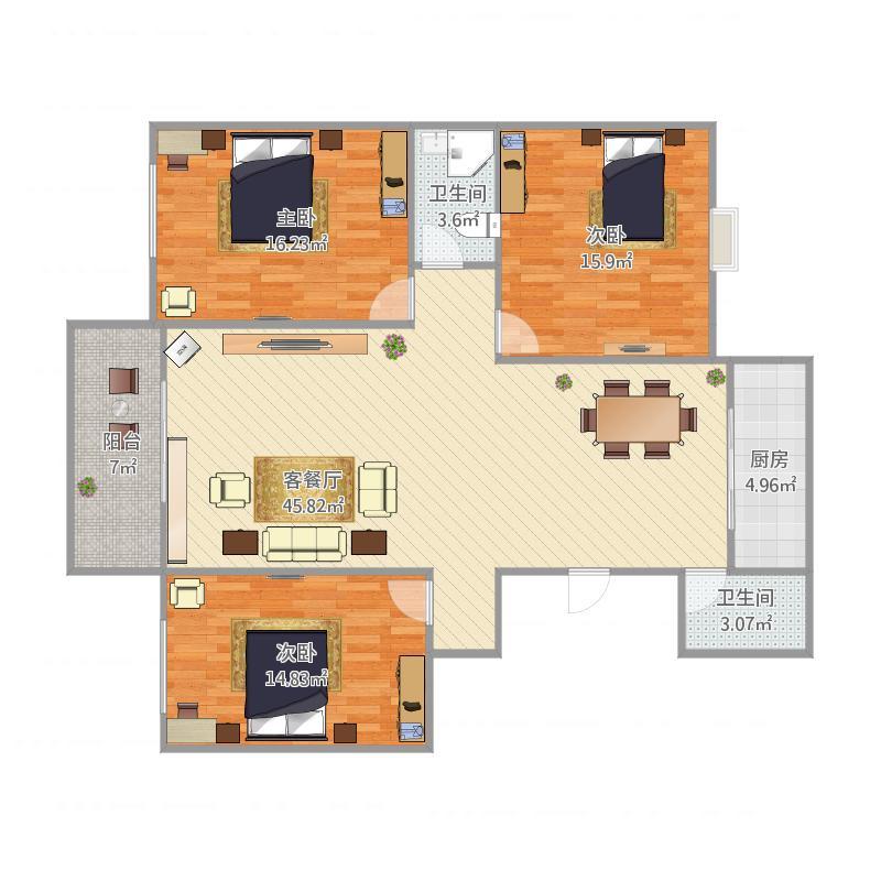 人才公寓三室二厅