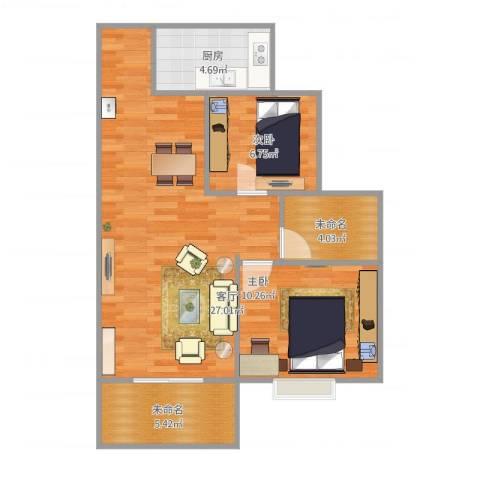 泾渭・馨佳苑2室1厅1卫2厨79.00㎡户型图