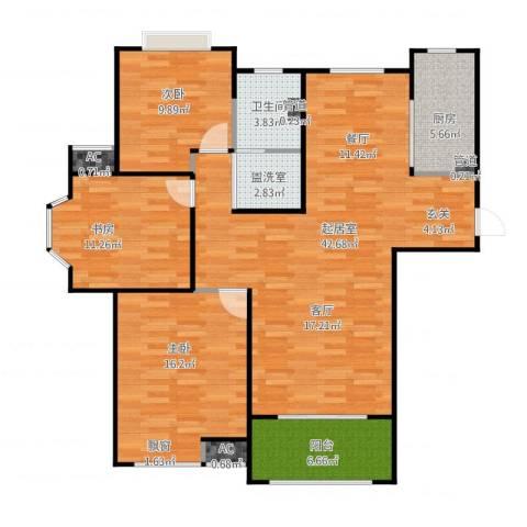 恒文星尚湾3室2厅1卫1厨135.00㎡户型图